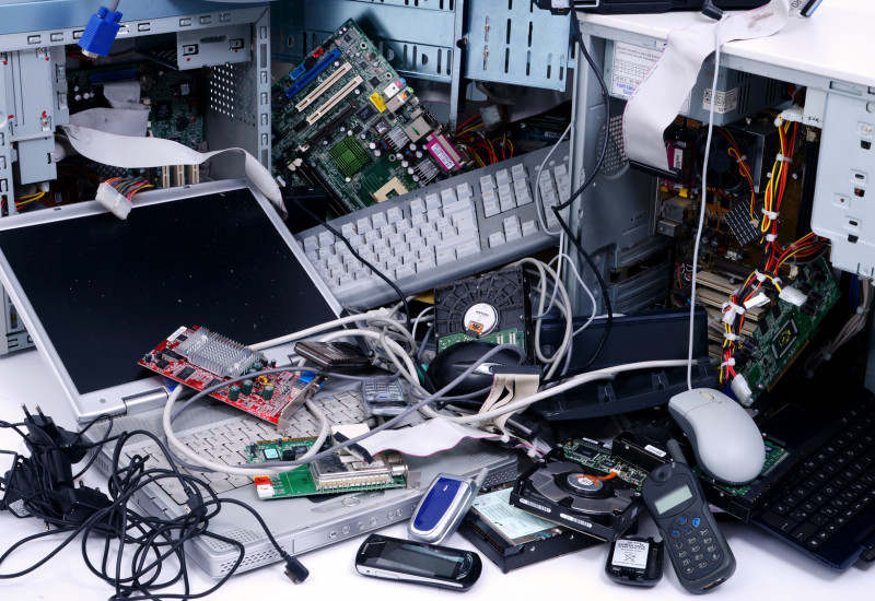 used electrical and electronic equipment like computers and mobile phones