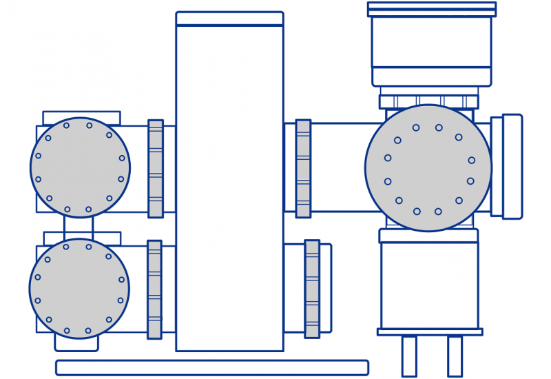 Illustration of a typical gas-insulated switchgear