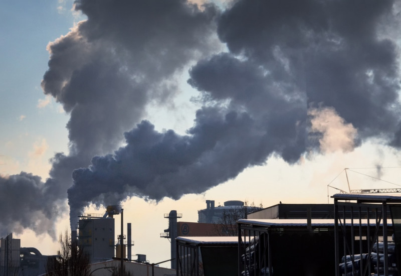 Emissions from an industrial plant