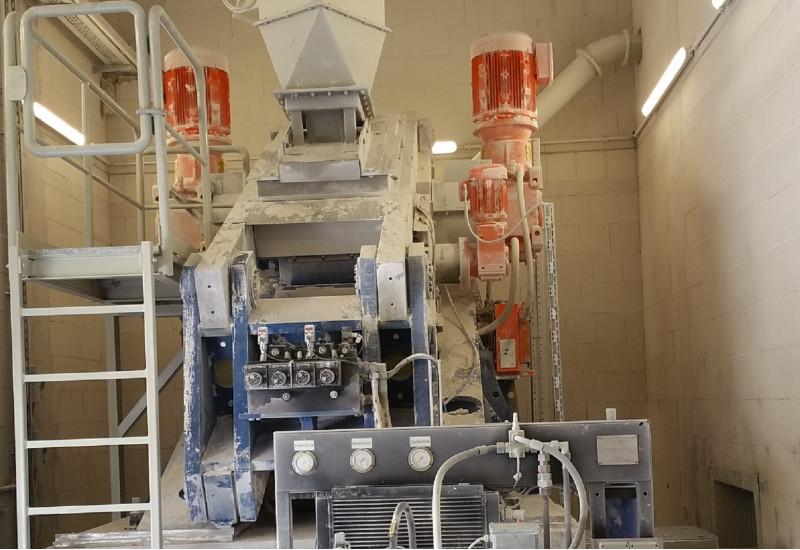 Maschine zum Mahlen von Kalk