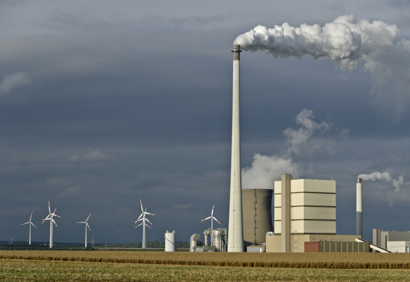 wind energy plants and conventional power plant