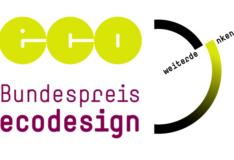Logo: eco Bundespreis ecodesign weiterdenken