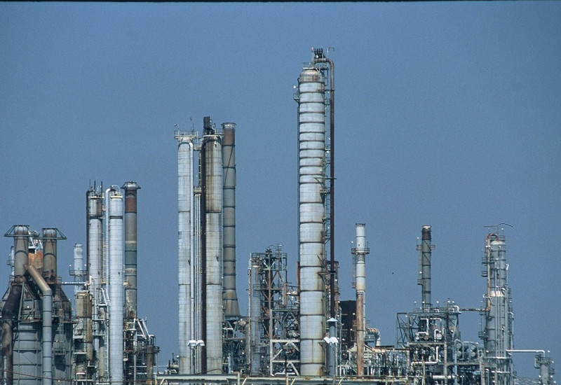 Aufnahme einer Raffinerie