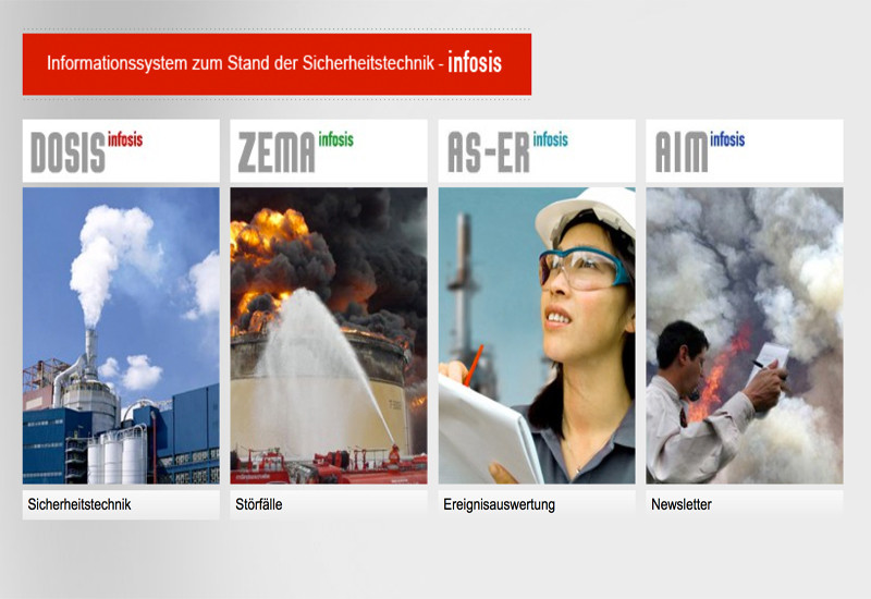 Startseite des Informationssystems zum Stand der Sicherheitstechnik (infosis)