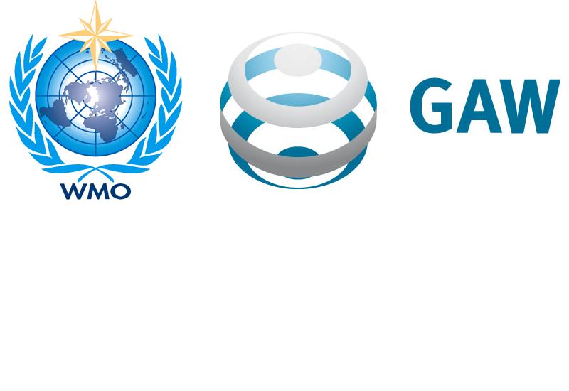 Logo des Programms GAW und der WMO OMM
