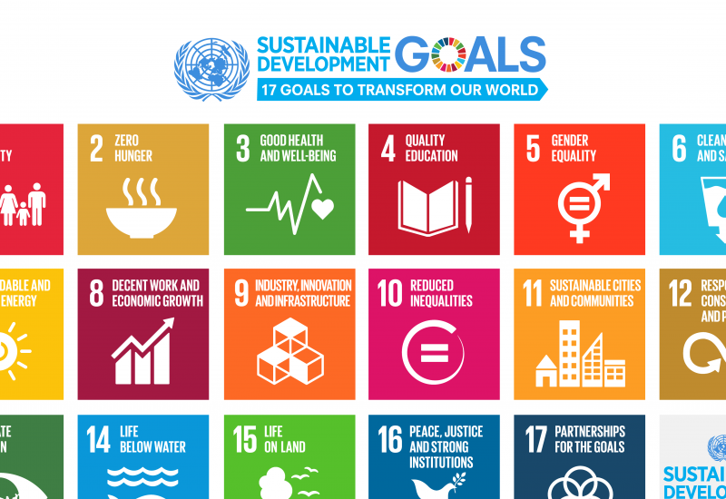 Poster with symbols for the 17 Sustainable Development Goals