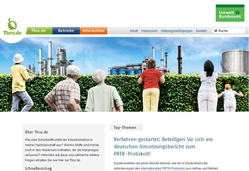 Startseite der Website Thru.de