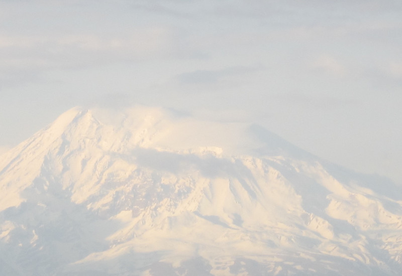 View from Jerevan on the Ararat, on the border between Turkey and Armenia