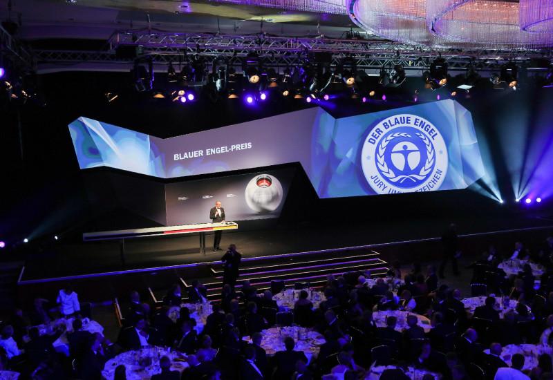 Bühne bei der Preisverleihung Blauer Engel-Preis 2012