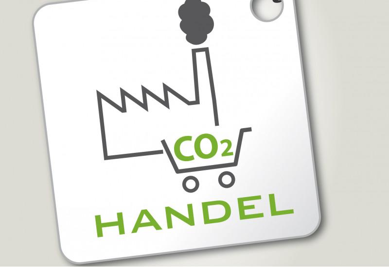 Etikett für Emissionshandel