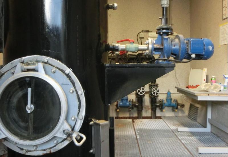 Das UBA in Berlin-Marienfelde: Abwasserzugang-Siebanlage