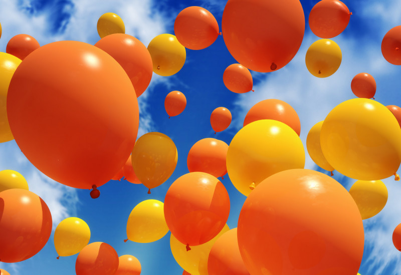 yellow and orange balloons