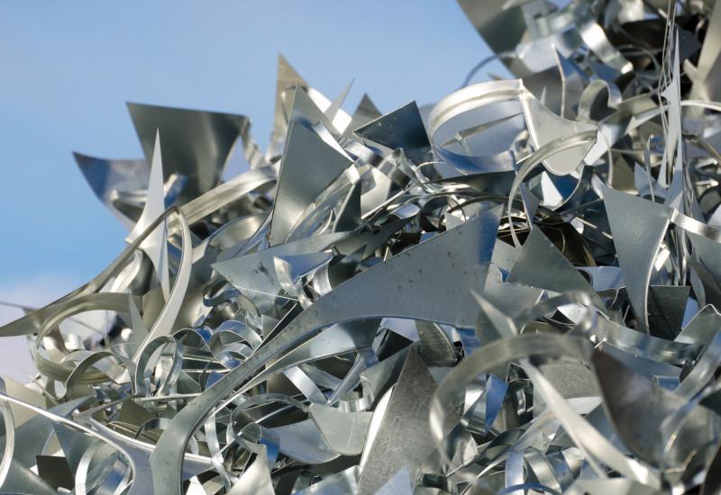shiny metal waste