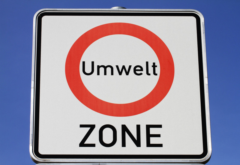 Road sign for  a low-emission zone