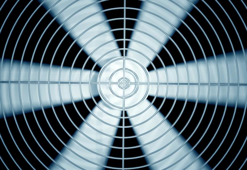 laufender Ventilator