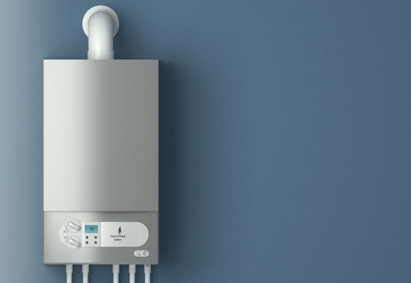 Gas-Brennwertgerät an einer Wand