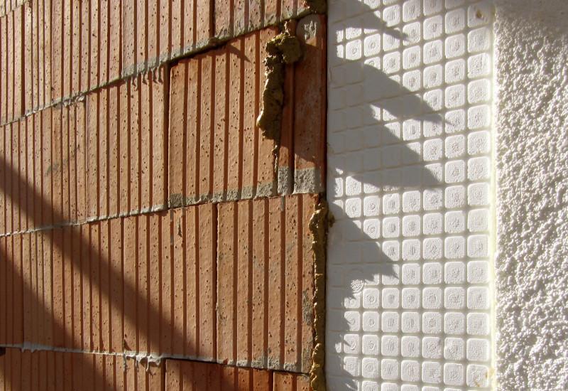 Nahaufnahme von Gebäudedichtung.