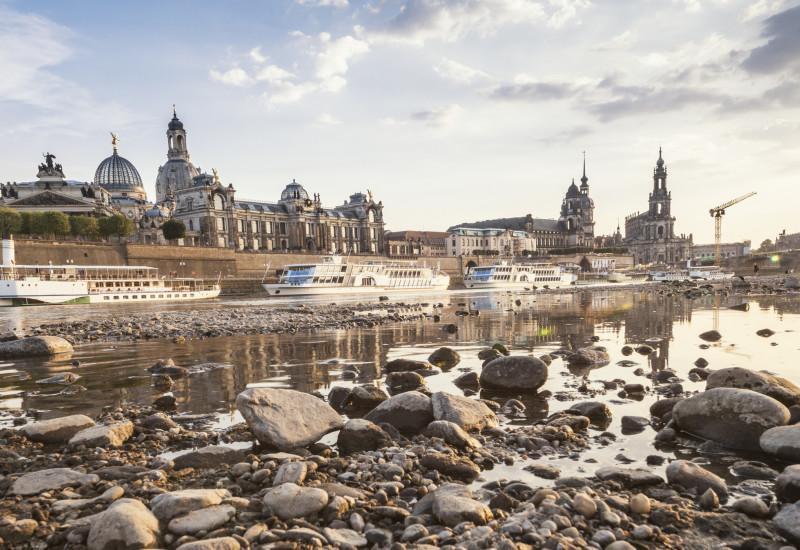 Niedrigwasser Elbe