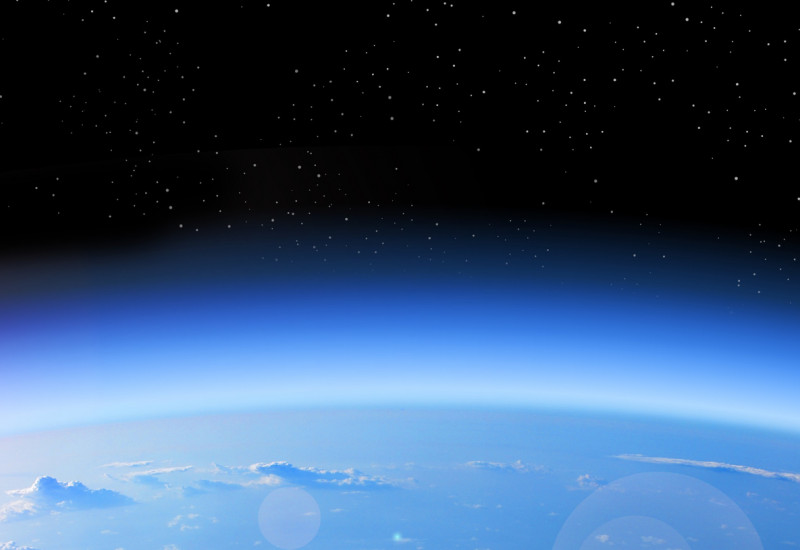 Die Erde aus dem Weltall gesehen.
