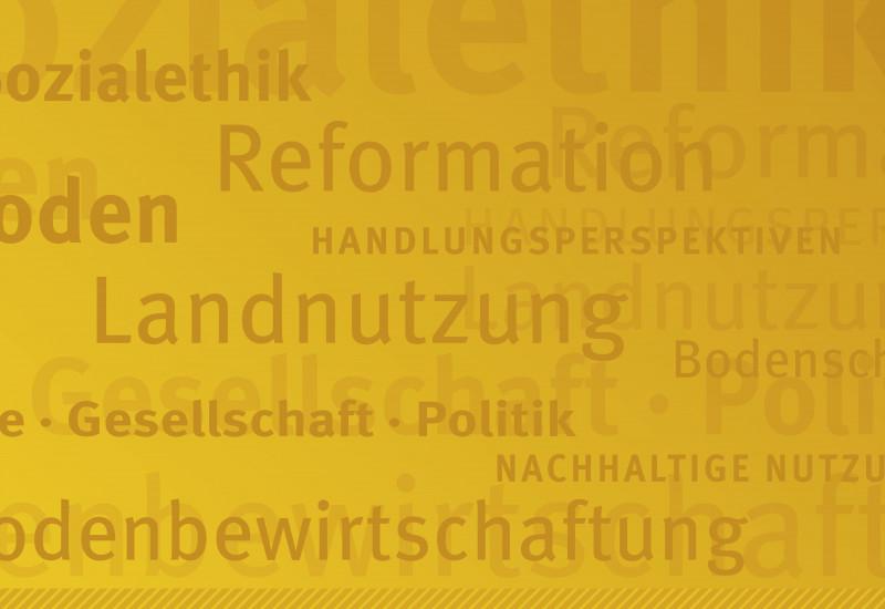 Eine Logowand zum Weltbodentag.
