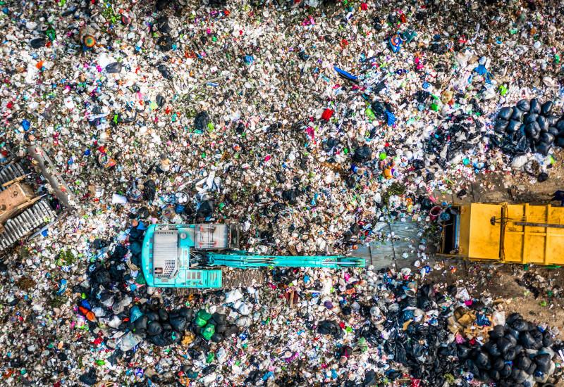 Abfall von oben