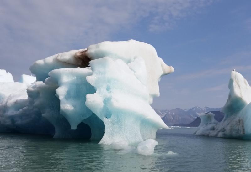 Eislandschaft auf Spitzbergen, Norwegen