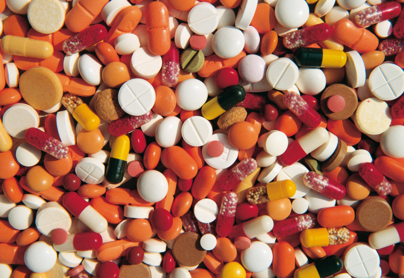 a lot of pills in different colours