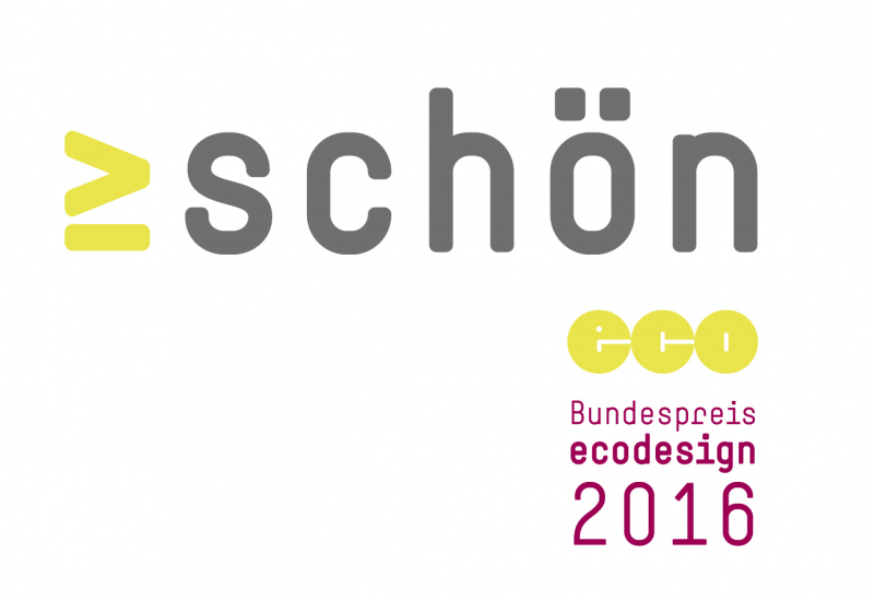 "logo with the word ""schön"" (beautíful)"