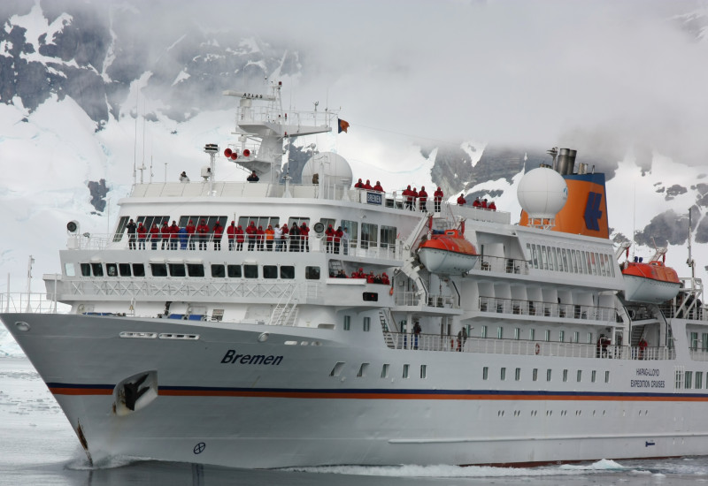 The majority of visitors to the Antarctic come by ship.
