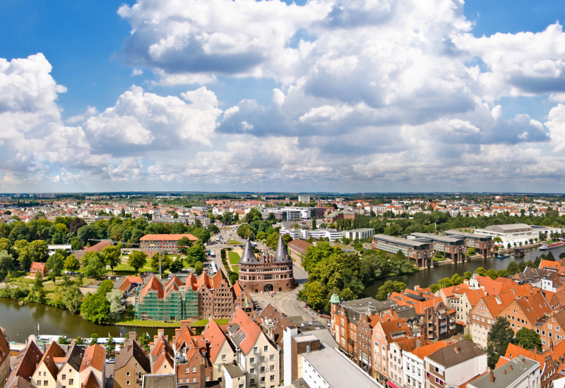 Stadtansicht von Lübeck