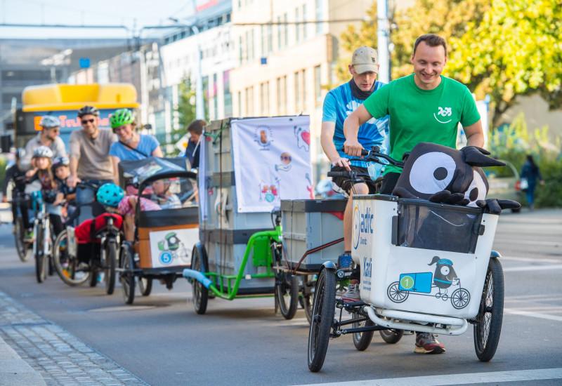 Fahrradfahren in Chemnitz im Edgar