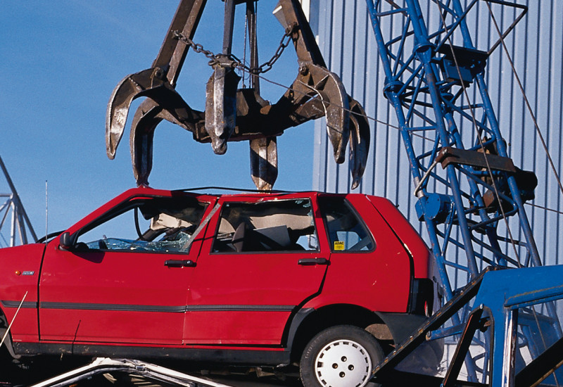 Cars waiting to be scrapped