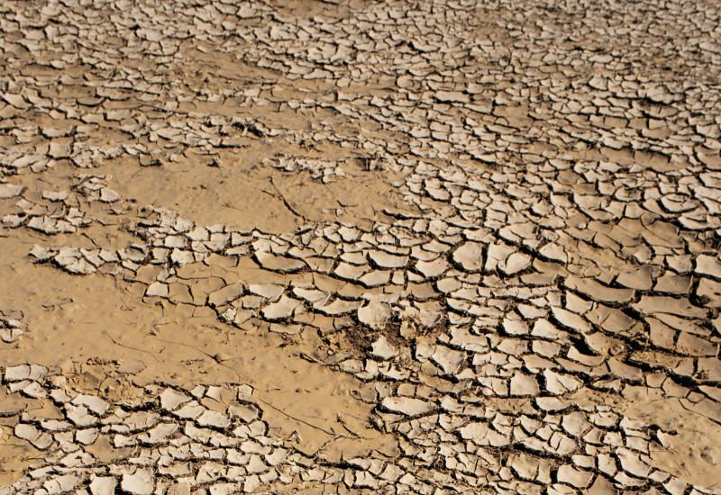very dry soil