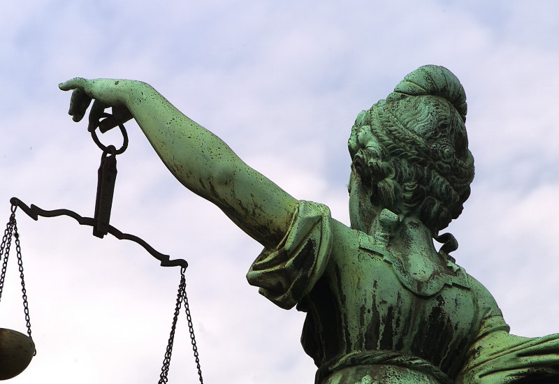The statue of Justitia