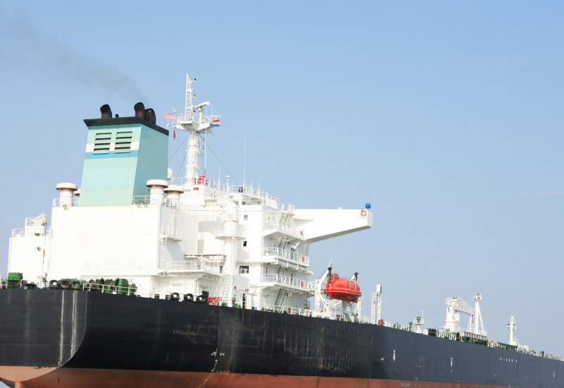Tankerschiff im Ozean