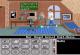 einfache Computergrafik zeigt einen jungen Mann in einem Haus und Tasten für Computerspiel-Befehle