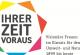 """Logo der Ausstellung """"Ihrer Zeit voraus"""""""