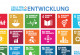 The 17 Sustainable Development Goals adopted by the United Nations.