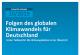 Blaues Cover von Climate Change Publikation mit dem Titel: Folgen des globalen Klimawandels für Deutschland