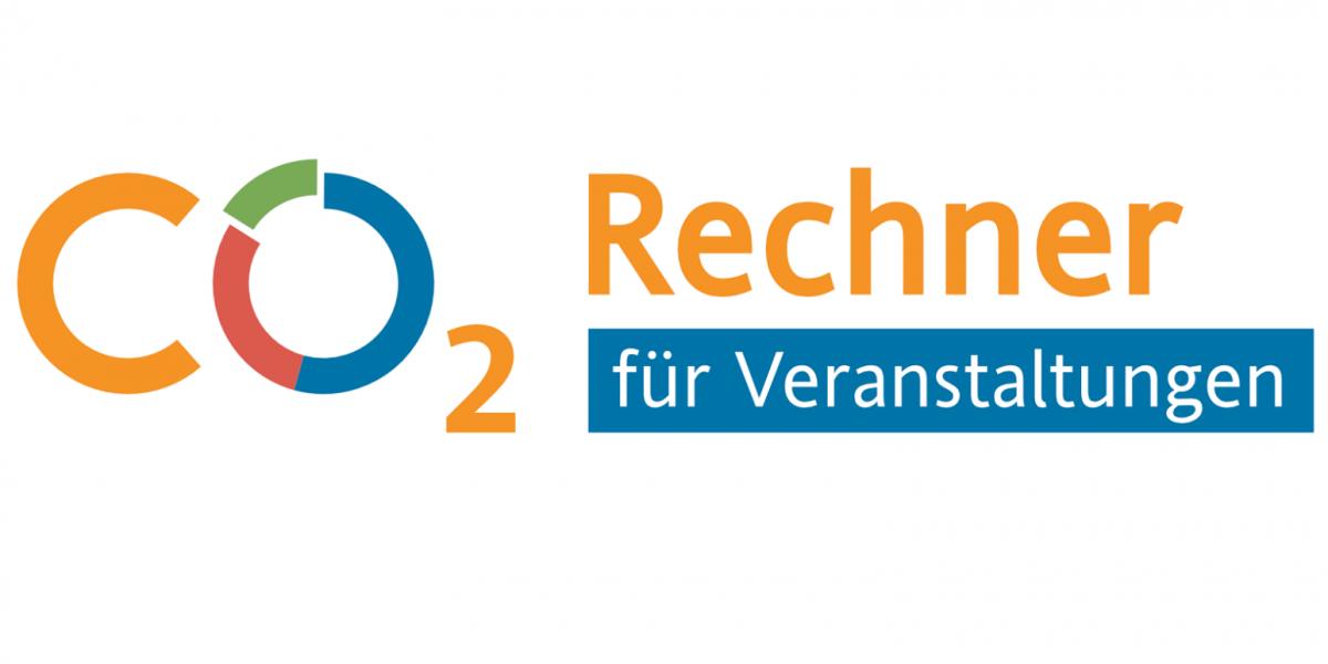 Logo: Schriftzug CO2-Rechner für Veranstaltungen