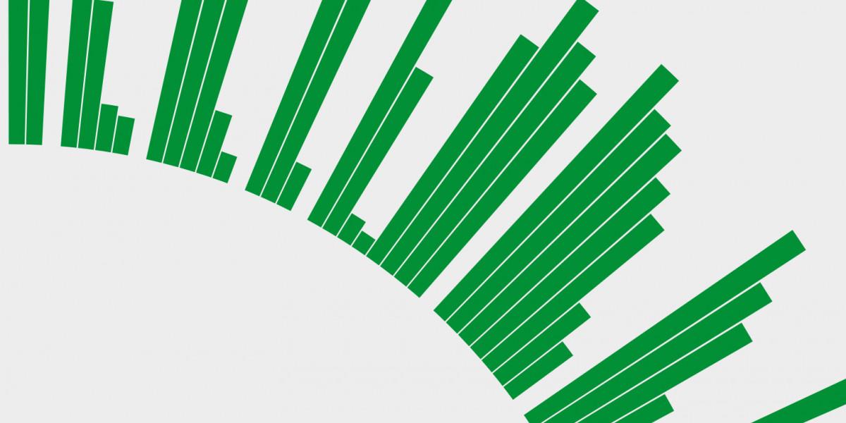 Stilisierte Darstellung einer Daten-Grafik