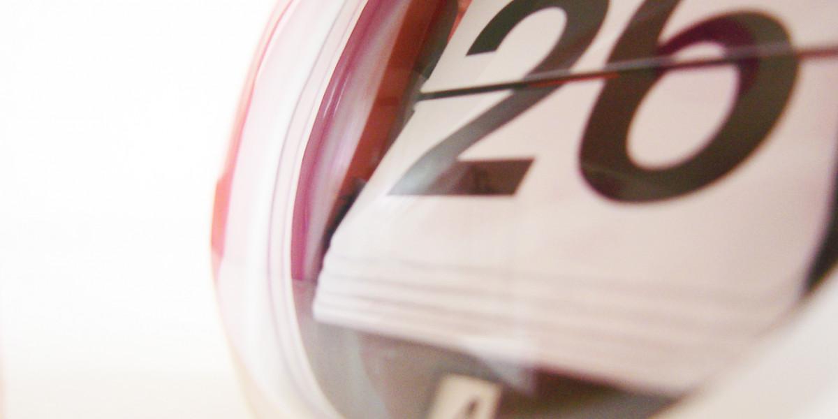 Nahaufnahme eines Tischkalenders