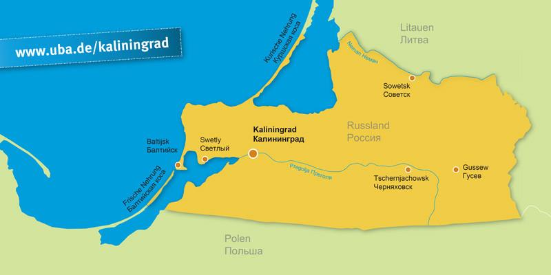 Kurische Nehrung Karte.Umweltkooperation Kaliningrad Deutsch Umweltbundesamt