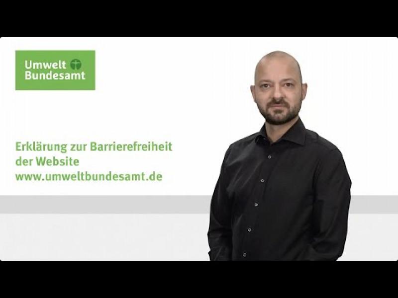 Gebärdensprachfilm: Erklärung zur Barrierefreiheit der Website www.umweltbundesamt.de