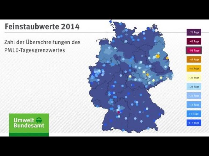 Luftqualität 2014: Auswertung der Feinstaubwerte