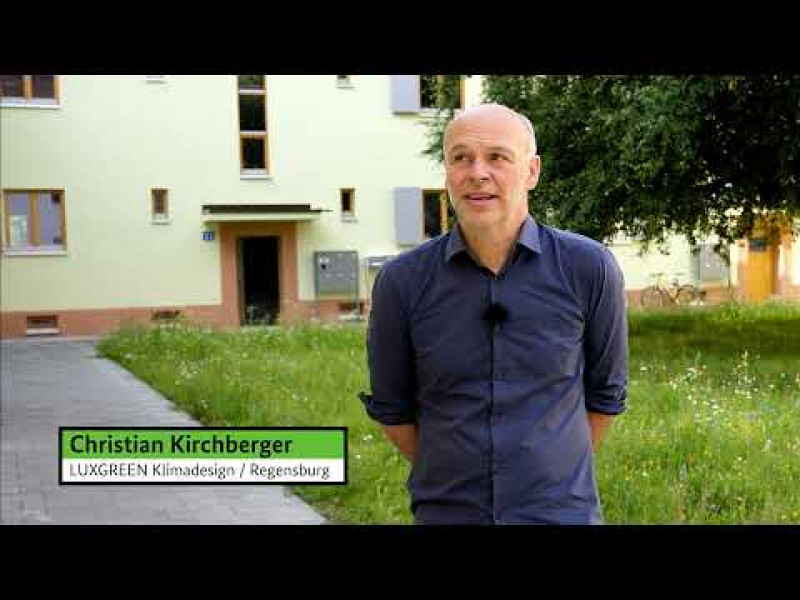 """Stadtquartier """"Margaretenau"""" in Regensburg (Anerkennung Bundespreis UMWELT & BAUEN 2021, Kategorie Klimagerechte Sanierung)"""
