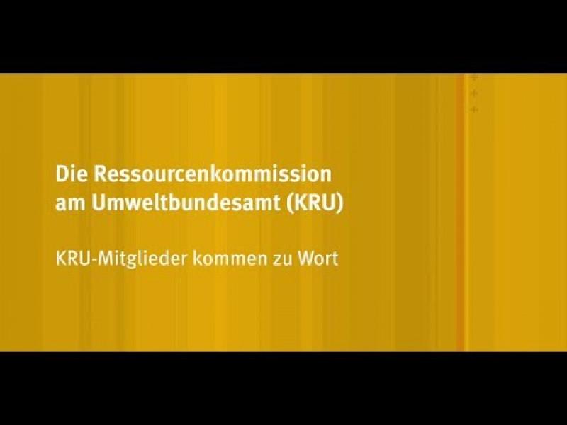 Ressourcenkommission am Umweltbundesamt (KRU)