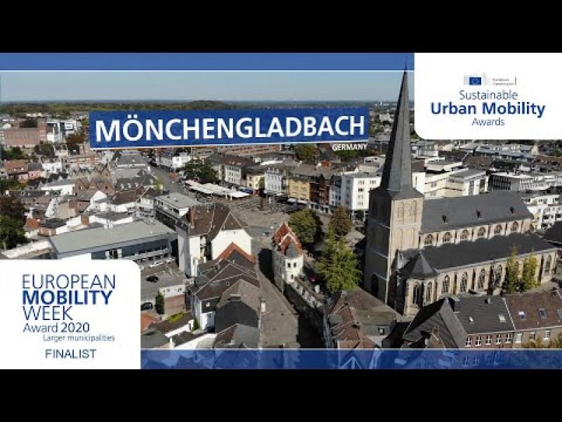 Mönchengladbach wurde 2020 mit dem Preis für das beste Programm großer Kommunen während der EUROPÄISCHEN MOBILITÄTSWOCHE ausgezeichnet