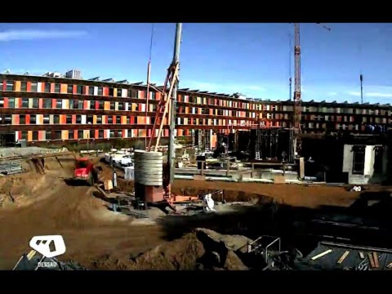 Der Bau des UBA-Erweiterungsbaus Dessau-Roßlau im Zeitraffer: Keller- und Erdgeschoss