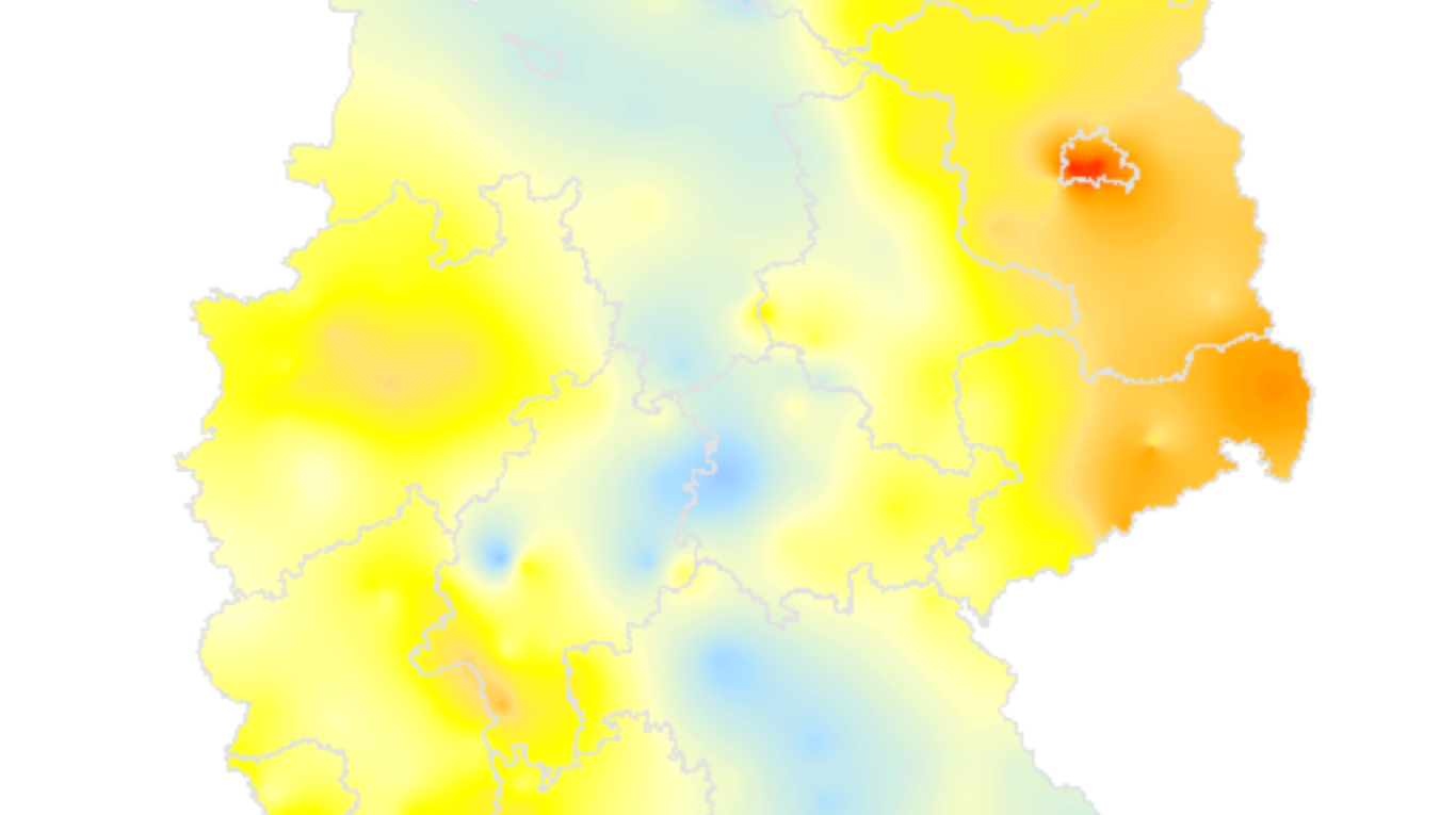 Bild zu Maps: Germany-wide pollution and forecast maps